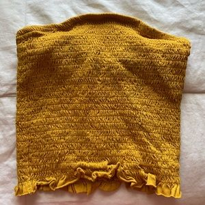 Yellow stretchy tube top
